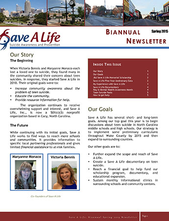 Microsoft Word - Save A Life Newsletter.docx